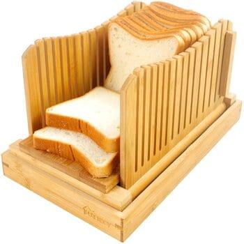 Purenjoy Bamboo Wood Bread slicer