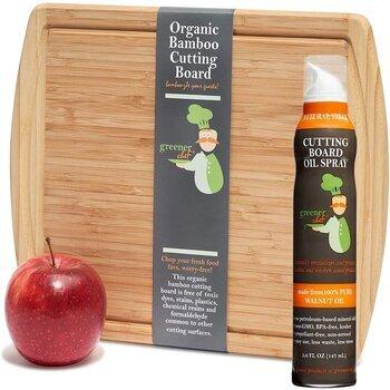 Greener Chef Small Bamboo Food Grade Cutting Boards Oil