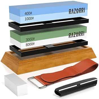 Razorri Knife Sharpening Whetstone Kit- Double-Sided
