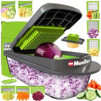 Mueller Austria Vegetable Chopper- Dicer Cutter with Container