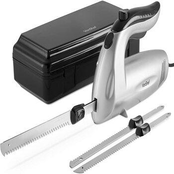 VonShef Electric Knife– Serrated Carving Knife Set