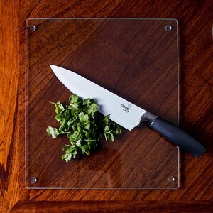 Clever Chef Clear 4 Pack of Glass Cutting Boards