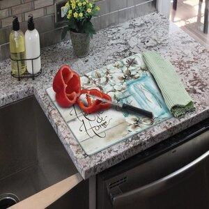 CounterArt Heart and Home Mason Jar Glass Cutting Board