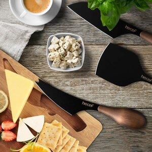 Hecef 3 pieces cheese knives set