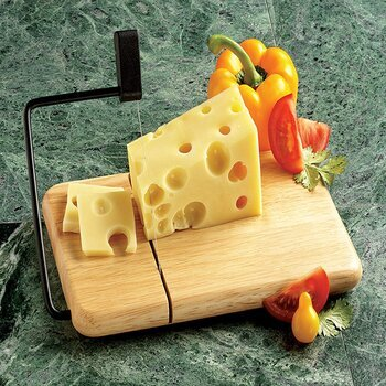 Prodyne Thick Beechwood base Cheese Slicer