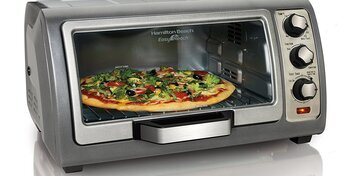 Hamilton Beach Toaster Oven Easy Reach 6-Slice 31123D