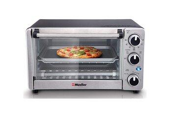 Mueller Austria Toaster Oven 4 Slice, Stainless Steel Finish. best toaster oven under 100$