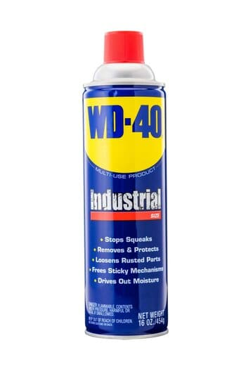 Use WD-40 to remove the rust off a pocket knife.