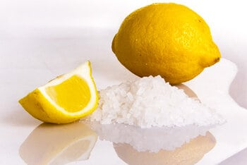 Use salt and lemon juice to remove the rust off a pocket knife.