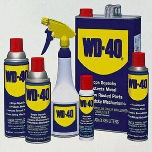 clean a sharpening stone with WD-40 spray