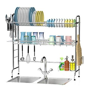 Ace Teah Dish Drying Racks Over The Sink
