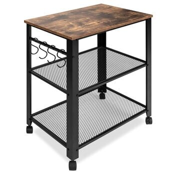 Best Choice Products Microwave Cart | Wood Finish Top
