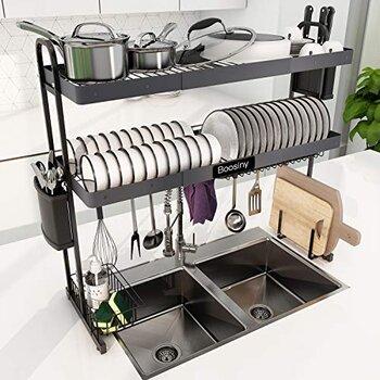 Boosiny Over Sink Dish Drying Racks