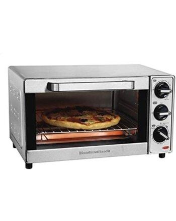 Hamilton Beach Toaster Oven 4-Slice Stainless Steel