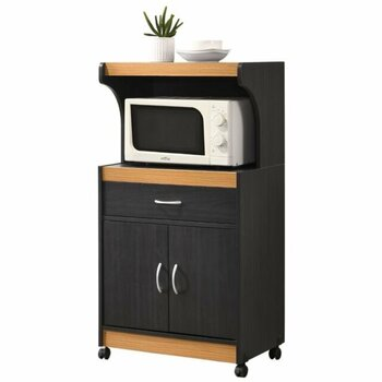 Hodedah Kitchen Cart| With Cabinet And Drawer
