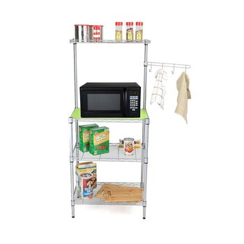 Mind Reader | Microwave Cart With Hooks