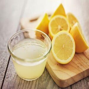 Using lemon Juice.