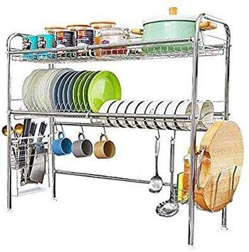 HEOMU Over The Sink Dish Drying Racks