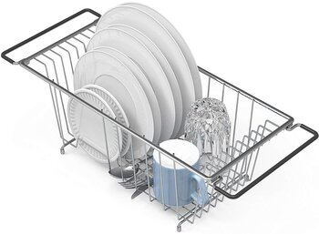Simple Houseware Over Sink Dish Drying Rack