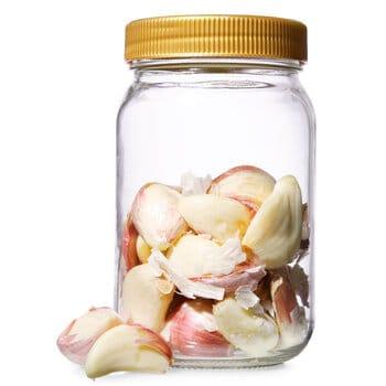 how to peel garlic using a jar