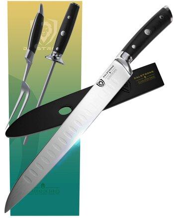Dalstrong Carving Knife 9 & Fork & Honing Rod Set
