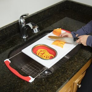 Good Cooking Over the Sink Cutting Board