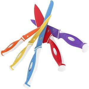 Vremi 10 Piece Colorful Kitchen Knife Set