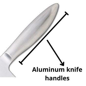 Aluminum knife handles