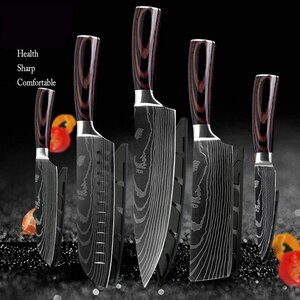 DFITO Kitchen Chef 440A 5-Piece Knife Set