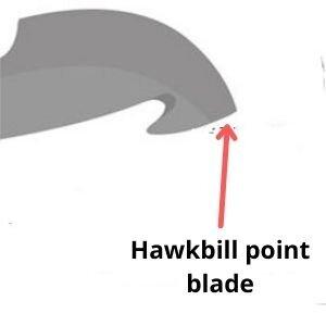 Hawkbill point blade