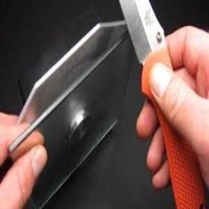 Sharpen knives Using a Broken Glass Bottle