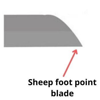 Sheep foot point blade