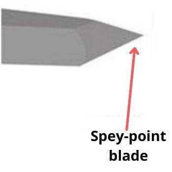 Spey-point blade
