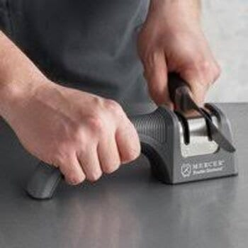 What are the advantages and disadvantages of manual sharpeners