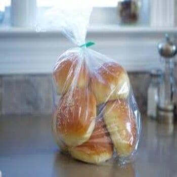 bread in a plastic bag