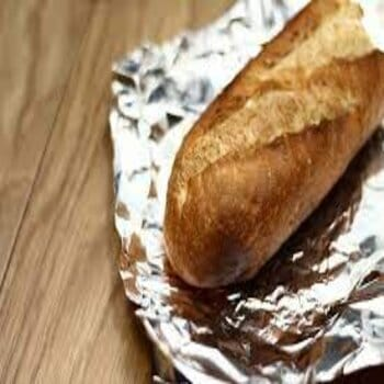 storing bread in aluminum wrap